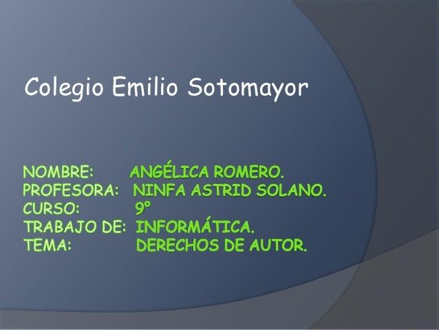 Colegio Emilio Sotomayor