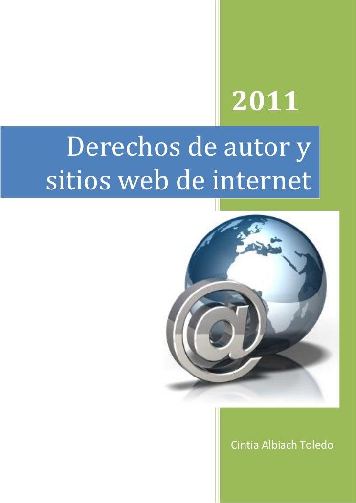 2011                1  Derechos de autor ysitios web de internet               Cintia Albiach Toledo