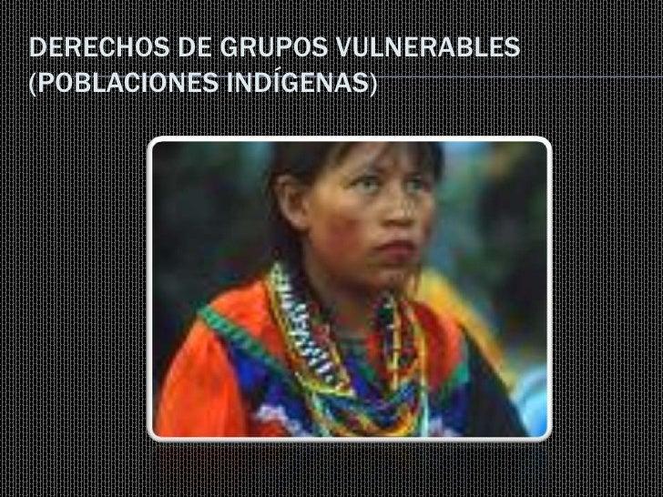 DERECHOS DE GRUPOS VULNERABLES (POBLACIONES INDÍGENAS)