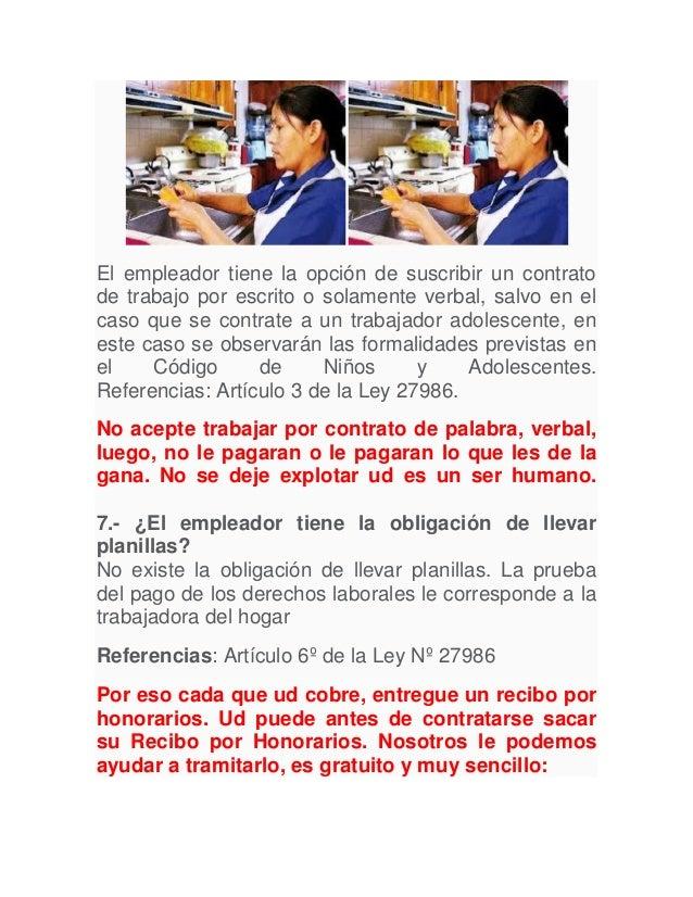 derecho de la trabajadora del hogar ley comentada On contrato de trabajadora del hogar