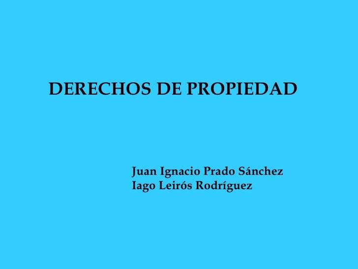 DERECHOS DE PROPIEDAD   Juan Ignacio Prado Sánchez   Iago Leirós Rodríguez