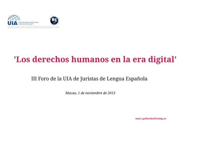 Derechos Humanos en la Era Digital