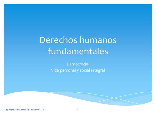 Derechos humanos                                     fundamentales                                                    Demo...