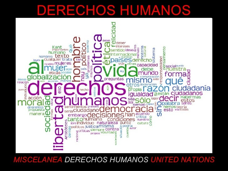 MISCELANEA  DERECHOS HUMANOS  UNITED NATIONS DERECHOS HUMANOS