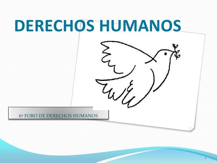 DERECHOS HUMANOS <br />6º FORO DE DERECHOS HUMANOS<br />1<br />