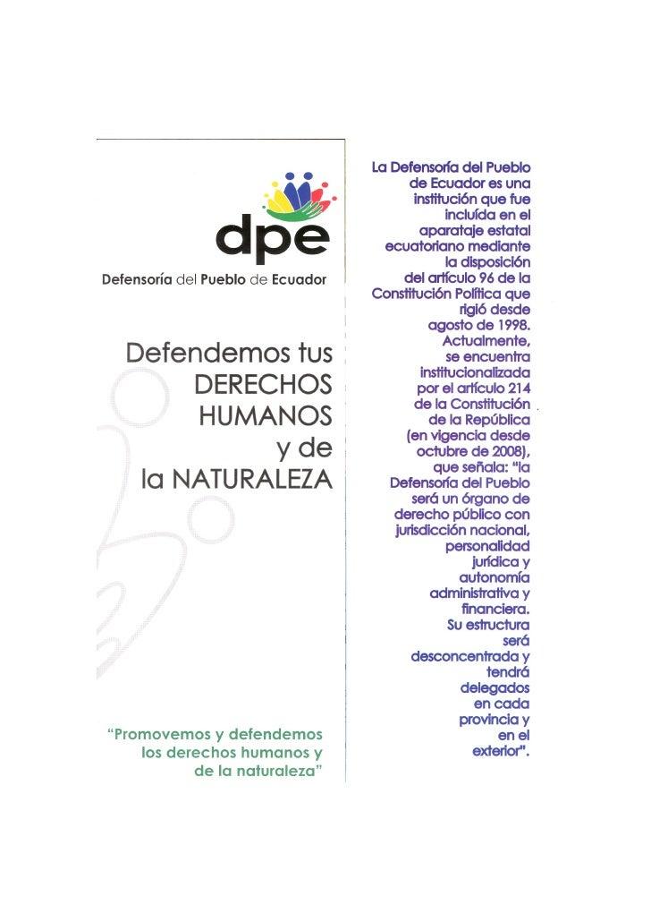 Derechos humanos y de la naturaleza