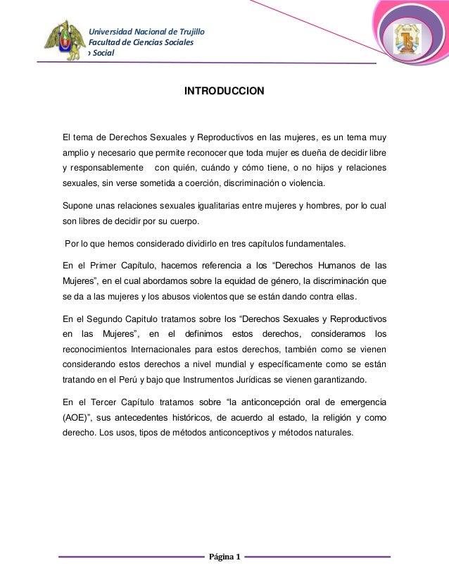 Universidad Nacional de Trujillo      Facultad de Ciencias SocialesTrabajo Social                                 INTRODUC...