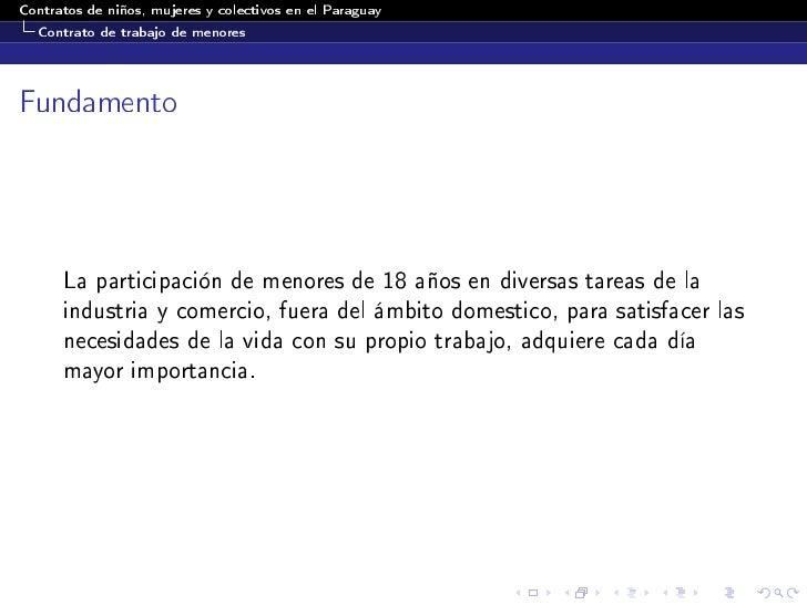 Contratos De Ni Os Mujeres Y Colectivos En El Paraguay