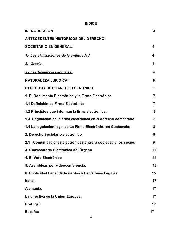 INDICEINTRODUCCIÓN                                                       3ANTECEDENTES HISTORICOS DEL DERECHOSOCIETARIO EN...
