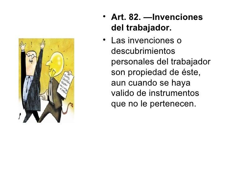 invenciones o descubrimientos del trabajador