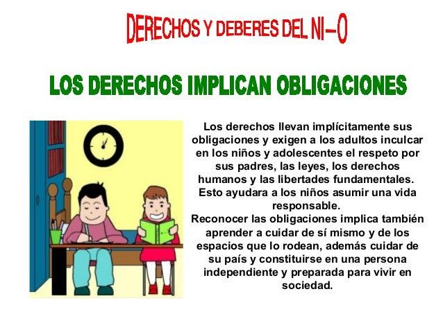 Derechos y deberes del niño