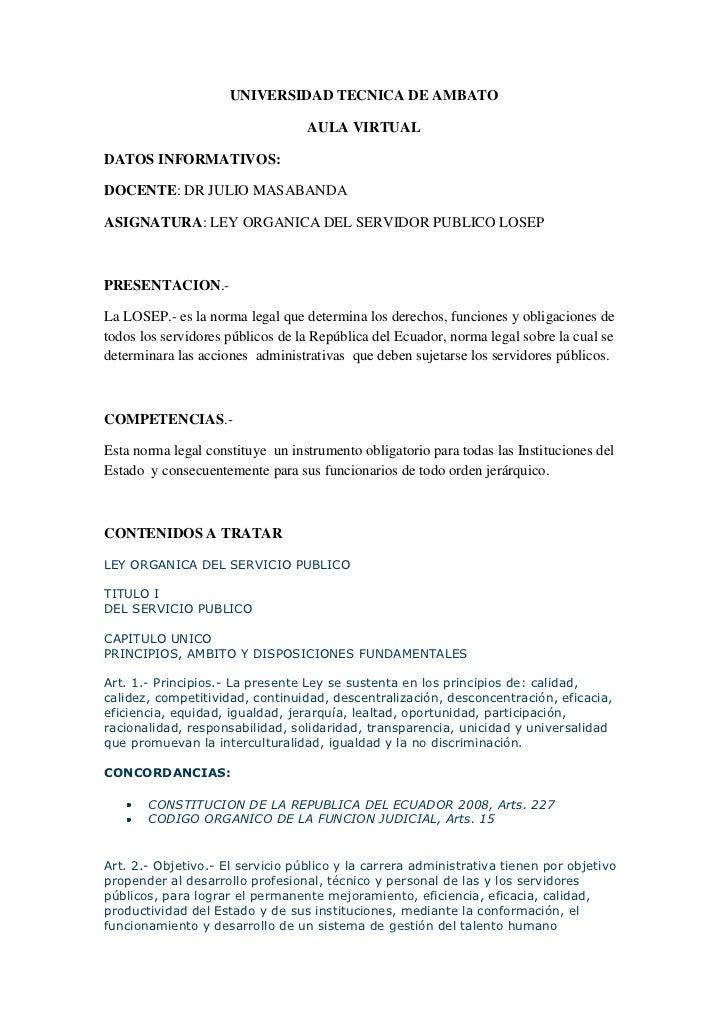 UNIVERSIDAD TECNICA DE AMBATO                                  AULA VIRTUALDATOS INFORMATIVOS:DOCENTE: DR JULIO MASABANDAA...