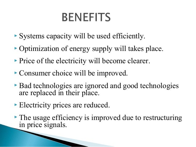 energy deregulation pros and cons