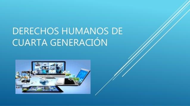 Derehos humanos-de4-generacion