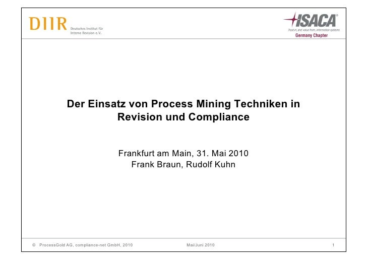 Der Einsatz von Process Mining Techniken in                        Revision und Compliance                                ...