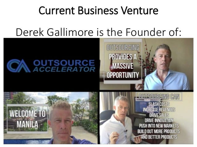Current Business Venture Derek Gallimore is the Founder of: