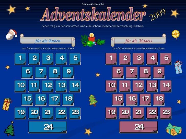 Elektronischer Adventskalender