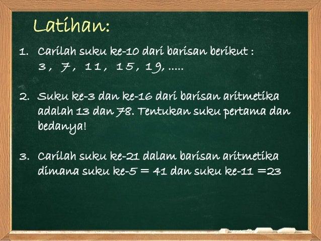 Deret hitung (aritmatika)