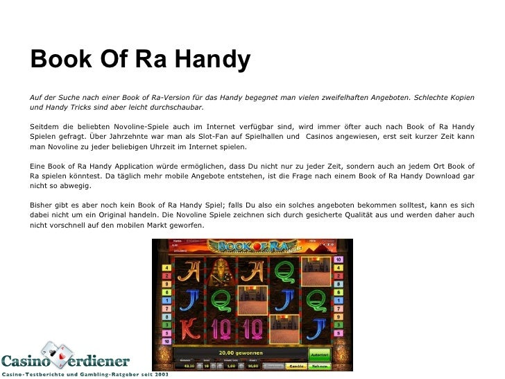 Book Of Ra Handy