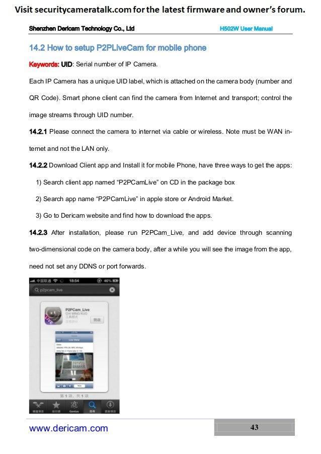 Dericam H502W English User Manual