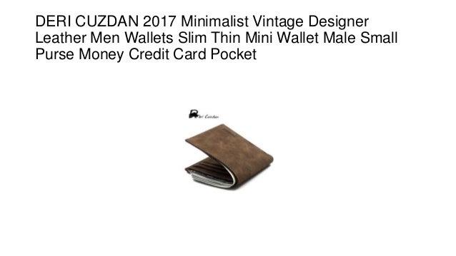 b2a719f719dc DERI CUZDAN 2017 Minimalist Vintage Designer Leather Men Wallets Slim Thin  Mini Wallet Male Small Purse ...