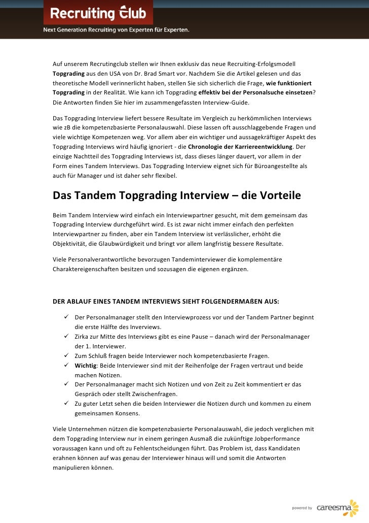 Der Interview Guide - Topgrading - Rekrutierung
