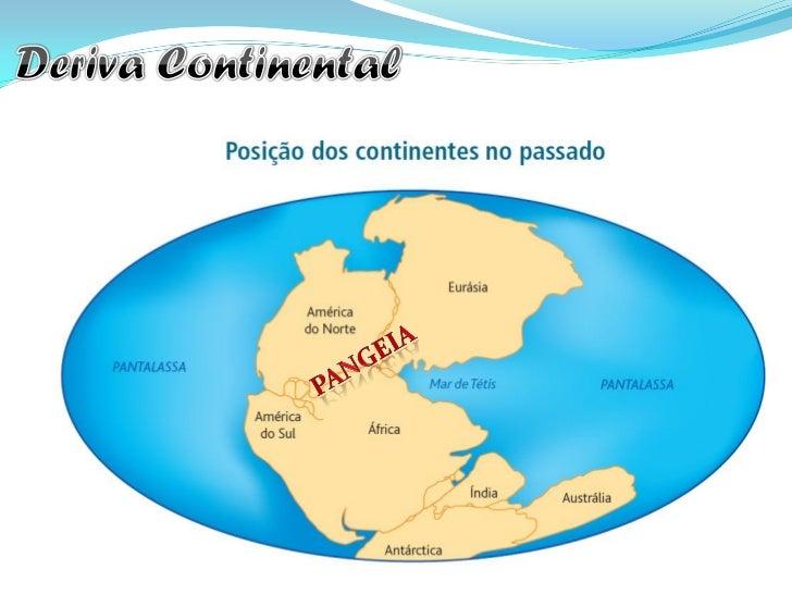"""2. Argumentos Geológicos:  Segundo Wegener, existem  """"rochas antigas"""" que existem em  África e na América do Sul, hoje  se..."""
