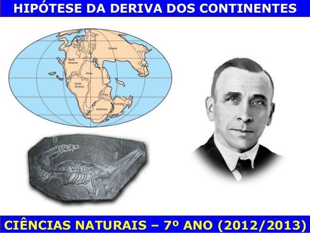 HIPÓTESE DA DERIVA DOS CONTINENTESCIÊNCIAS NATURAIS – 7º ANO (2012/2013)