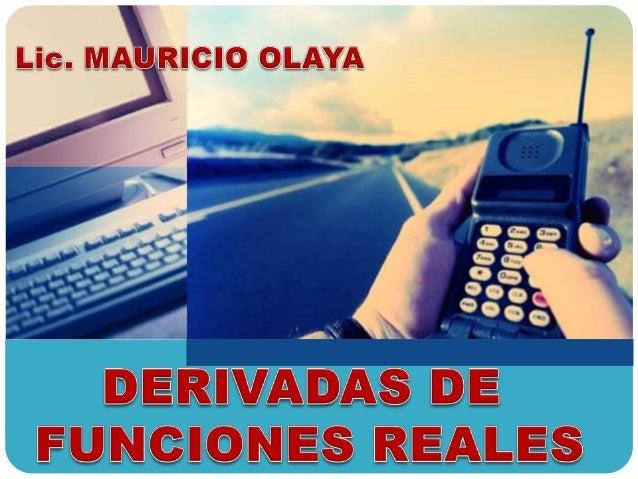 DERIVADAS DE FUNCIONES REALES DERIVADA DE UNA FUNCIÓN CONSTANTE