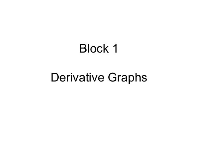 Block 1 Derivative Graphs
