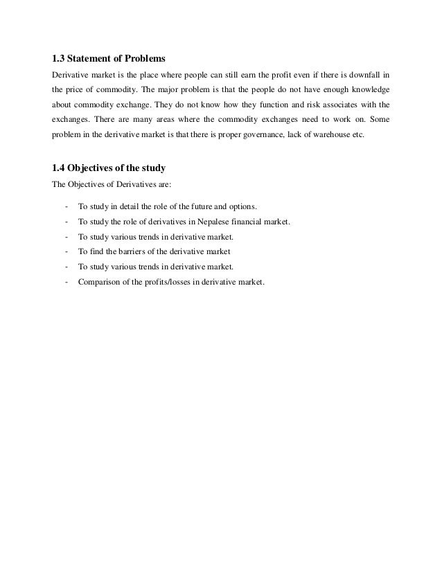 derivative market Full-text paper (pdf): derivative market in india: prospects & issues.