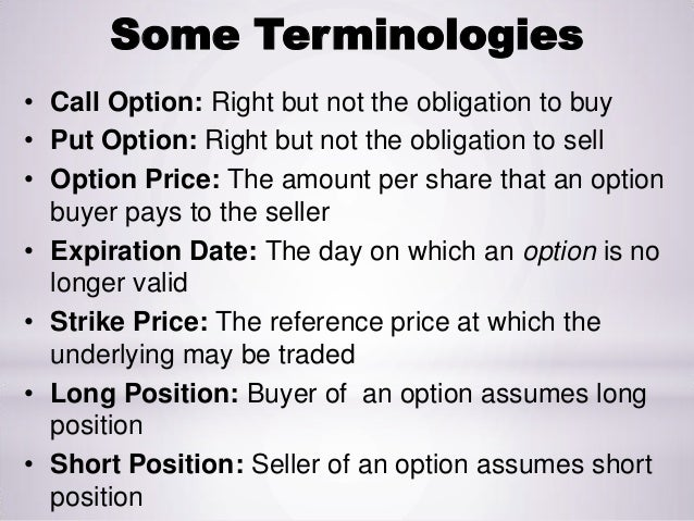 Understanding and calls puts option