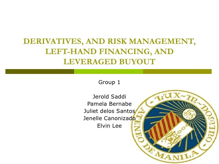 DERIVATIVES, AND RISK MANAGEMENT,    LEFT-HAND FINANCING, AND       LEVERAGED BUYOUT                Group 1               ...
