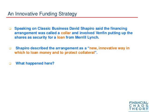 An Innovative Funding Strategy  Speaking on Classic Business David Shapiro said the financing arrangement was called a co...