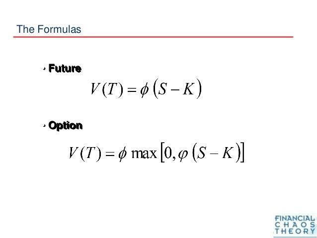 The Formulas • Future • Option