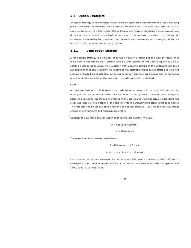 Derivatives Future Options