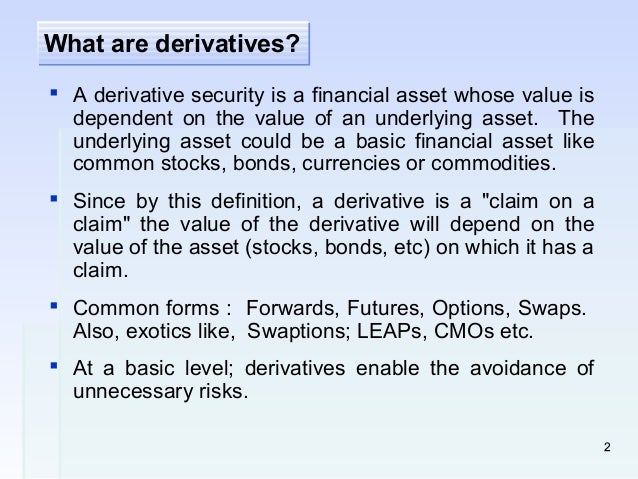 derivatives in islamic finance Derivatives, pricing efficiency and gharar: risk management in islamic finance an analysis of derivative pricing efficiency and gharar: evidence on.