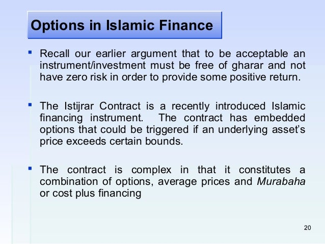 derivatives in islamic finance Islamic finance is booming at least $500 billion in assets around the world are managed in accordance with sharia, or islamic law, and the sector is.