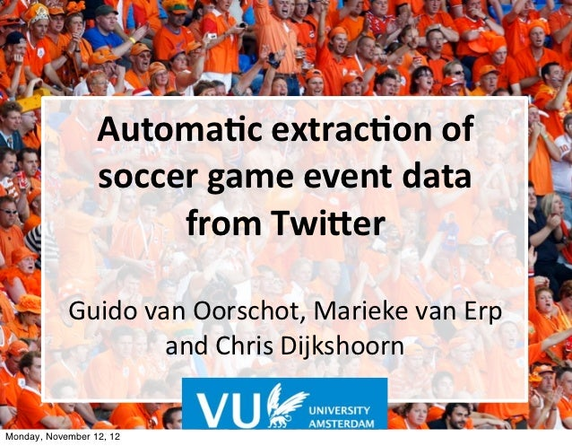 Automac extracon of                   soccer game event data                        from Twi6er         ...