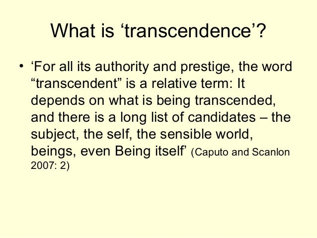 the concept of self transcendence 05052017 the transcendence of the ego is a philosophical essay published by jean paul sartre in 1936 in it, he sets out his view that the self or ego is not itself.