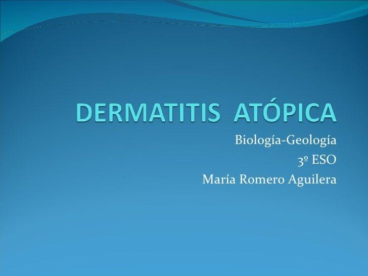 Biología-Geología 3º ESO María Romero Aguilera