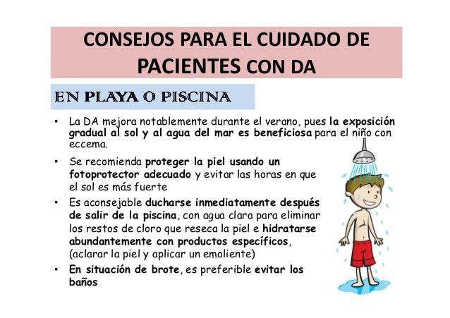 Dermatitis at pica charla para padres for Dermatitis atopica piscina cloro