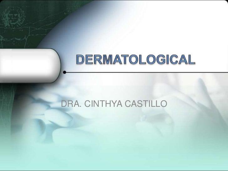 DRA. CINTHYA CASTILLO