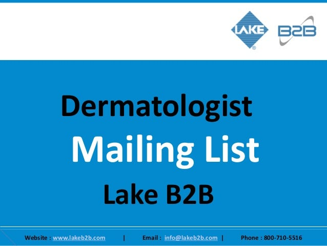 Get Only Deliverable Contacts With Dermatologist Email List
