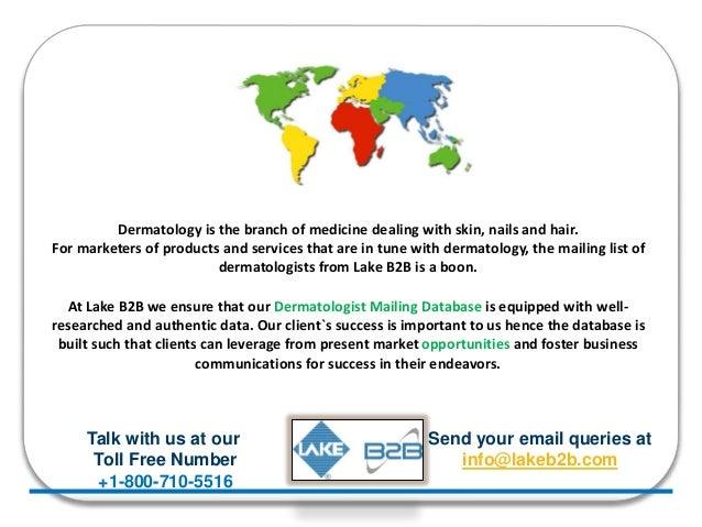 Database Of Dermatologists Dermatologist Email List