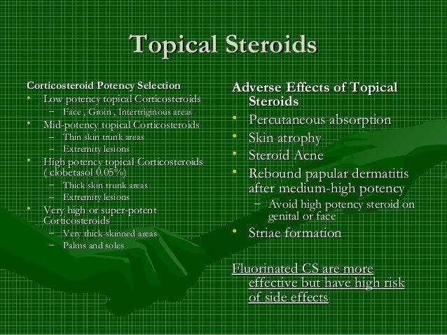 low potency steroids face