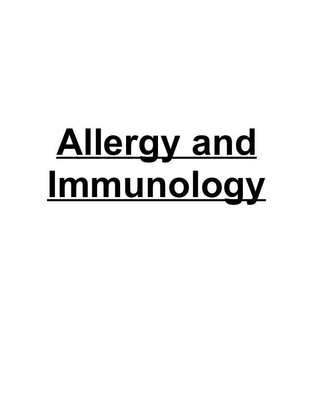 Allergy andImmunology
