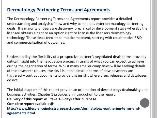 Dermatology Deals Market Partnering Terms Agreements Analysis Report