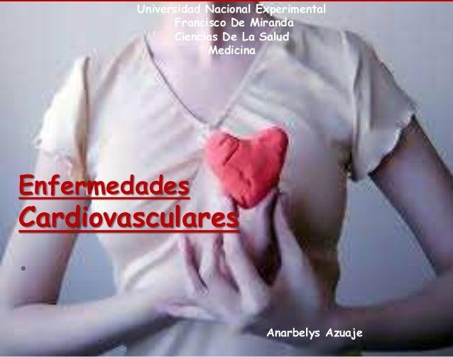 Universidad Nacional Experimental Francisco De Miranda Ciencias De La Salud Medicina Enfermedades Cardiovasculares . Anarb...