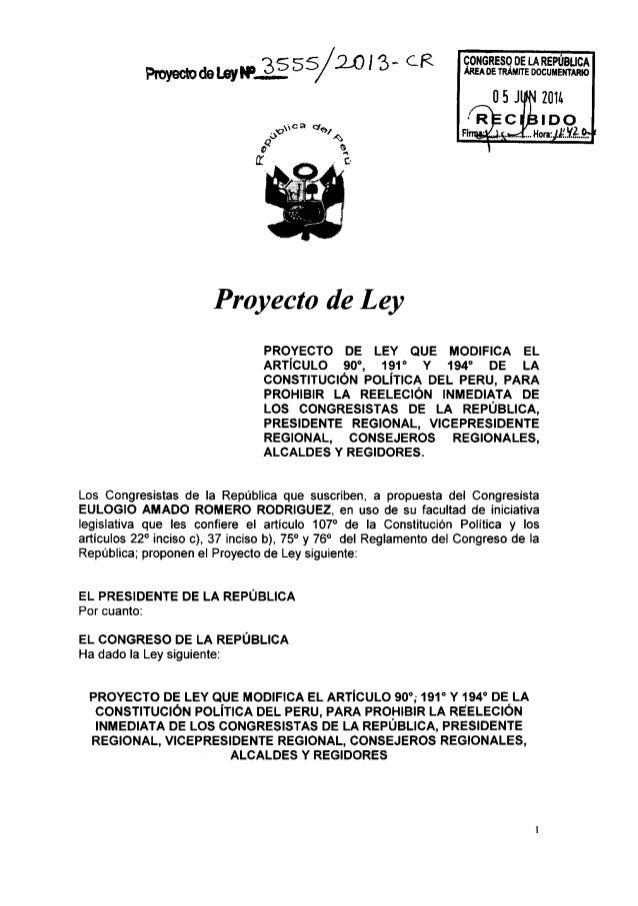 CONGRESO DE LA REPUBLICA ÁREA oe 7mm:  nocuummo  ProyecmdemyWÉÉSS/ mm' CR                  Proyecto de Ley  PROYECTO DE LE...